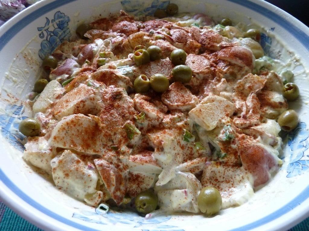 Red Potato Salad With Scallions & Radishes