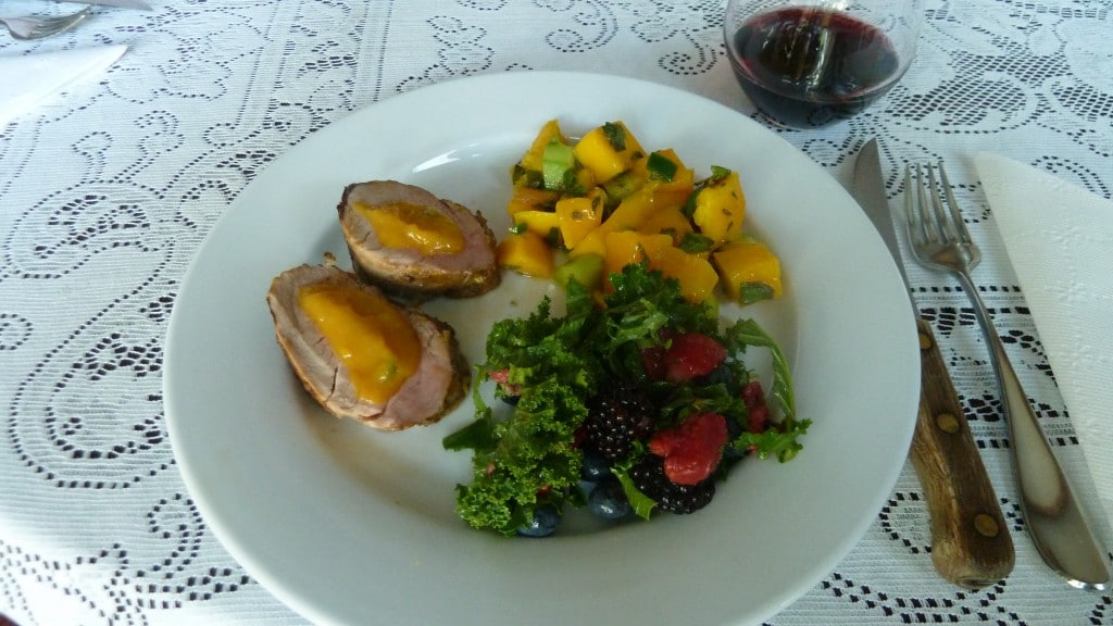 Pork with Salsa & Kale Salad