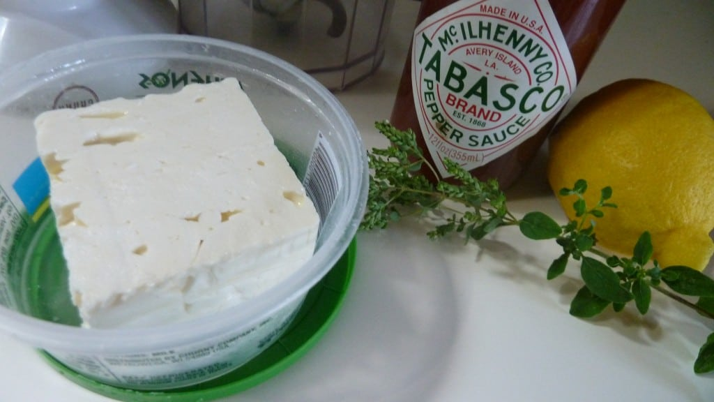 Greek Feta, lemon, oregano & tabasco