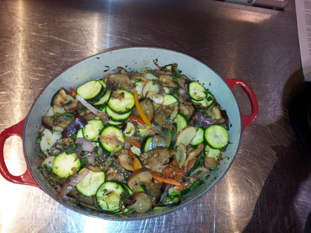 Summer roasted veggies