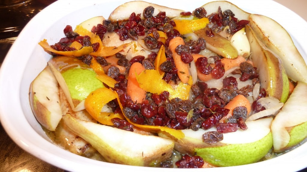 9 Adding fruit to baked chicken
