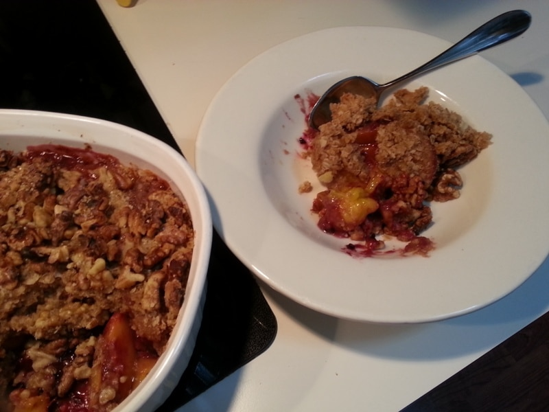 Peach and Berry Crumble 2