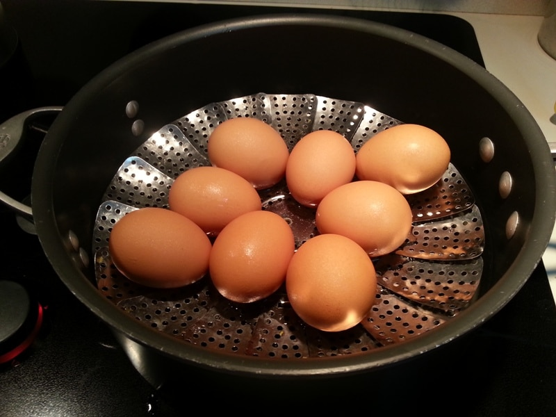 Steaming Eggs for Potato Salad