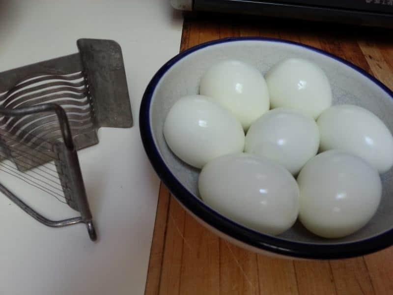 Steaming Eggs for Potato Salad