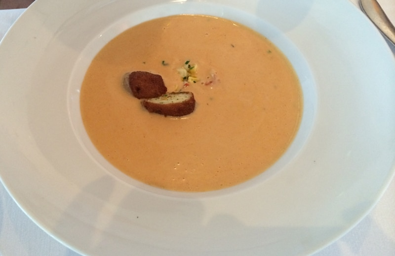Ocean Prime Lobster Bisque w/ Sweet Corn Fritter
