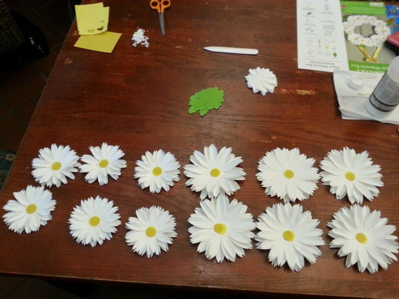 White Daisy Wreath 41 Crafts: Knitting and a Daisy Wreath