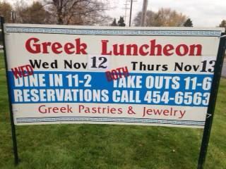 Greek Luncheon: Ladies Philoptochos Society of Holy Trinity Greek Orthodox Church in Grand Rapids Michigan