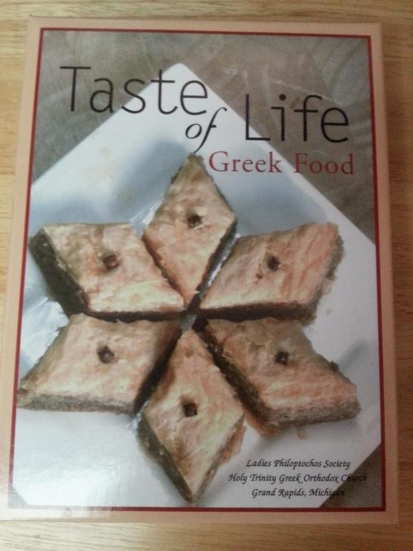 Taste of Life Greek Food Cookbook