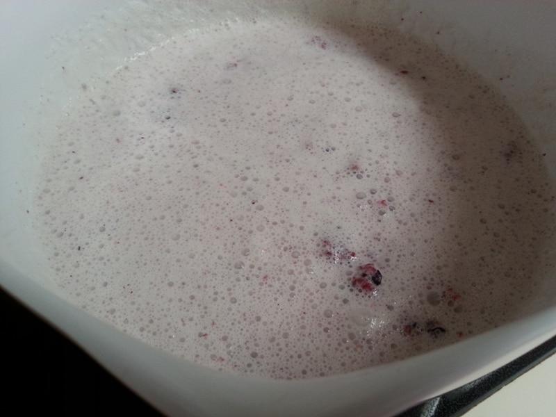 berries in liquid