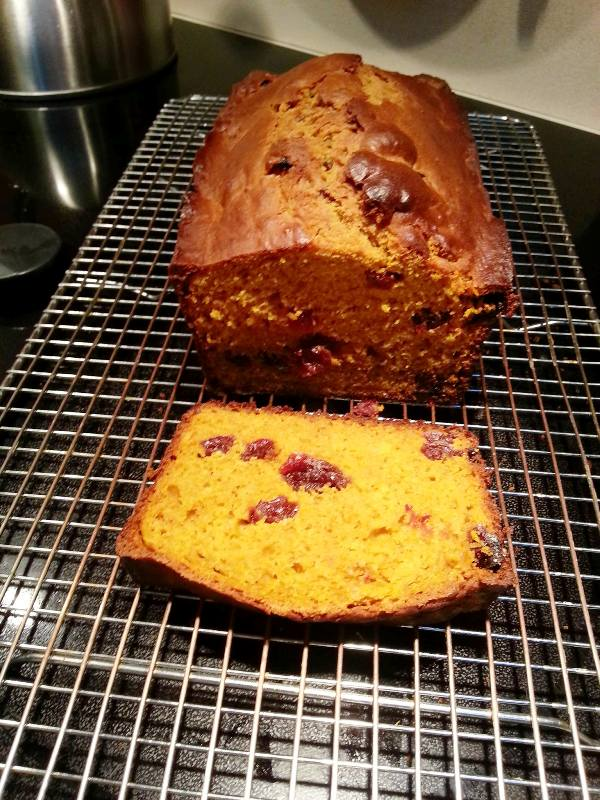 Pumpkin Bread - cooling on rack