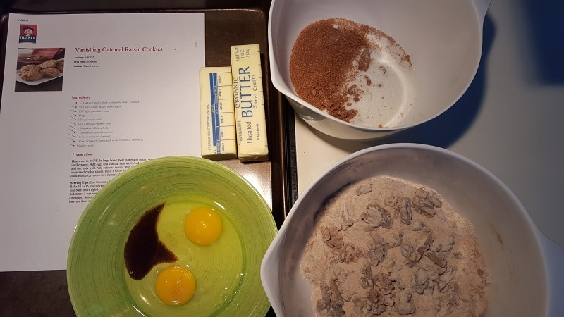 Vanishing Steel Cut Oatmeal Cookies mise en place