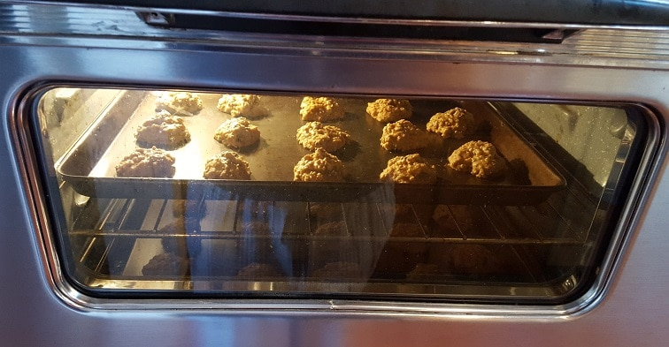 Vanishing Steel Cut Oatmeal Cookies baking