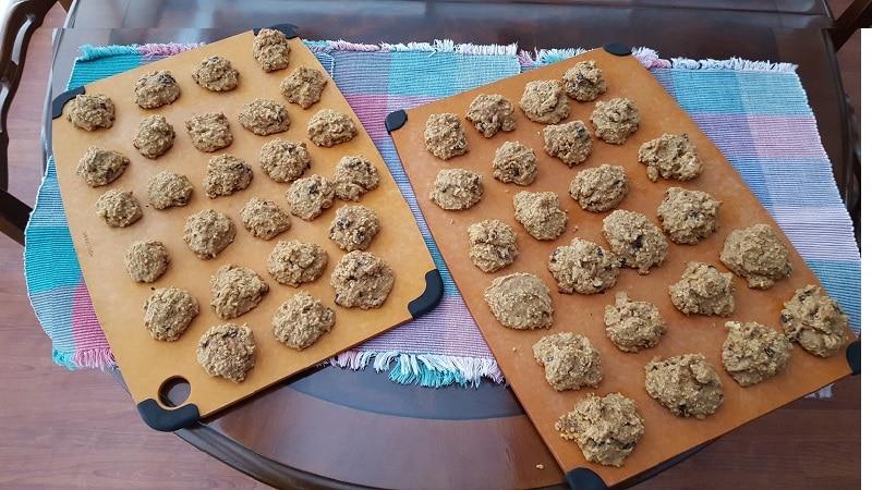 Vanishing Steel Cut Oatmeal Cookies yields dozens