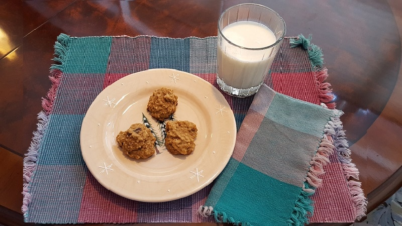 Vanishing Steel Cut Oatmeal Cookies & Milk