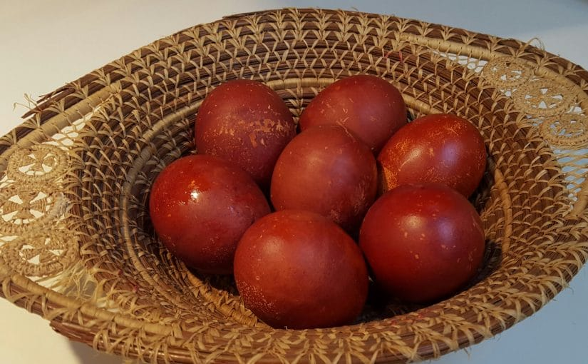 Greeks Dye Easter Eggs Red