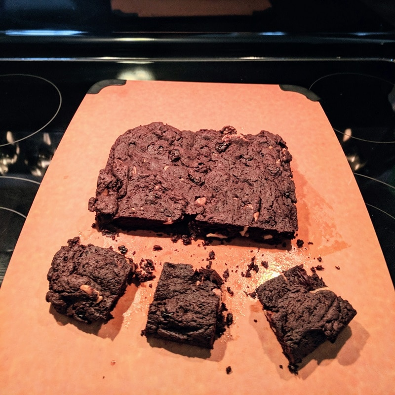 Gooey Fudgy Dark Chocolate Brownies