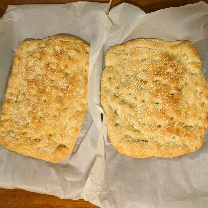 Greek Lagana Bread