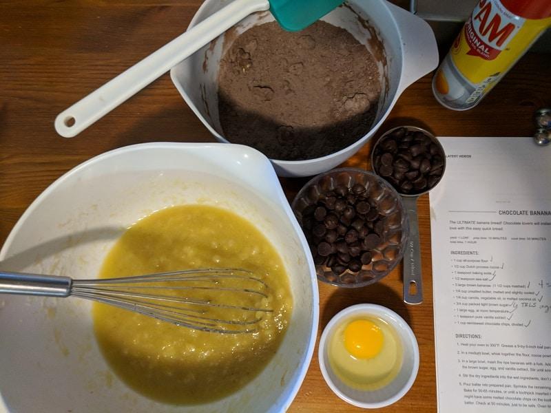 Dark Chocolate Banana Bread